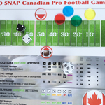 Colorful game boards for COLD SNAP Canadian Pro Football