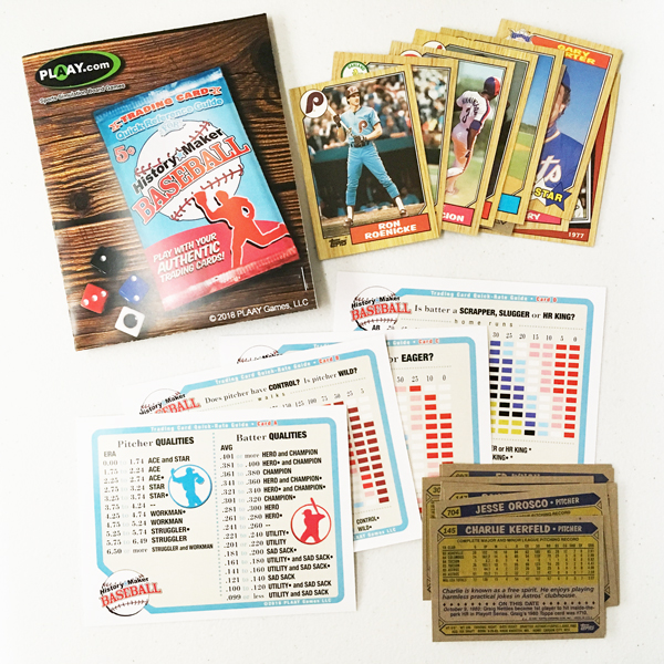 Baseball Trading Card Quick Rate Package For History Maker