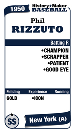 Phil Rizzuto's ATFG card for HMB