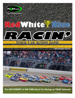 RED WHITE & BLUE RACIN' Stock Car Action Game