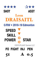 Sample player card for 2018-19 HOCKEY BLAST
